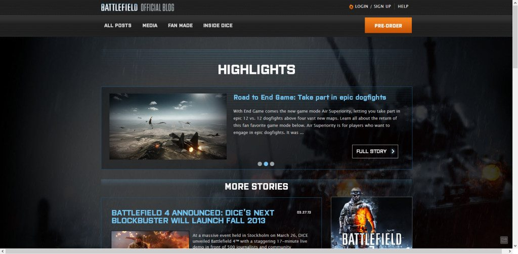 Battlefield Blog on WordPress