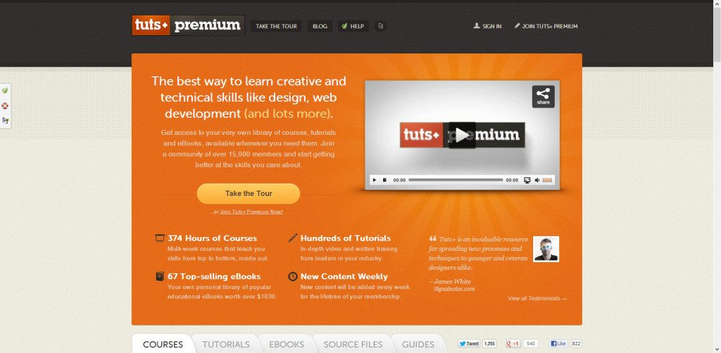 Tuts Plus Network on WordPress